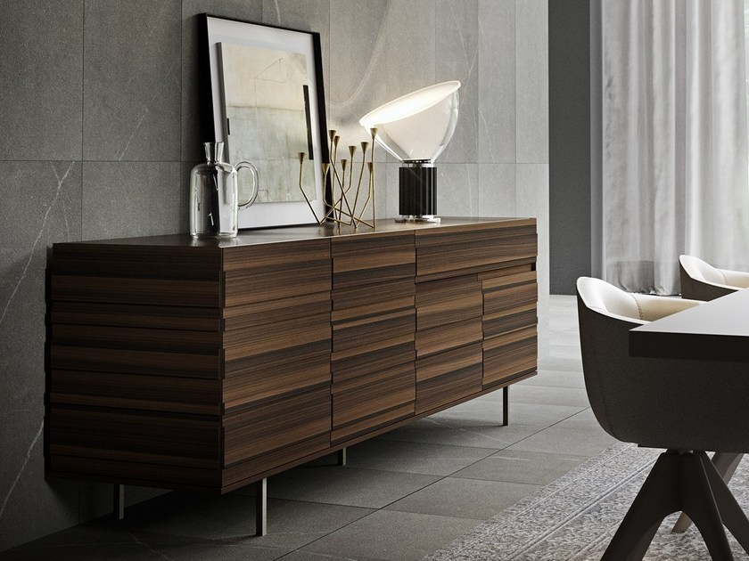 Highboard with doors with drawers STRIPE | Highboard by EmmeBi