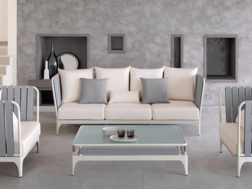 Fabric garden sofa with removable cover STRIPE | Sofa - Talenti