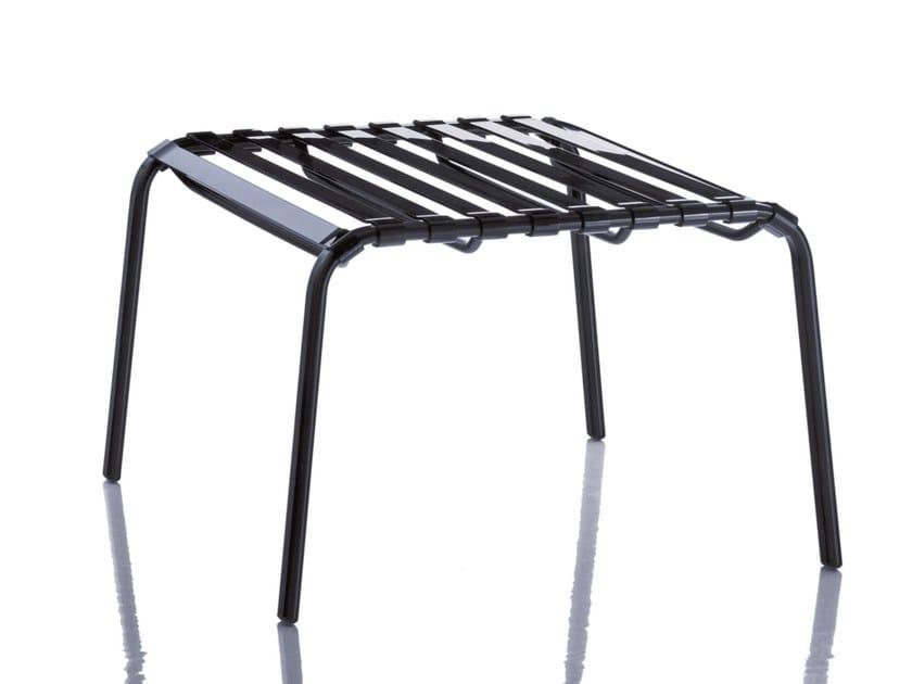 Steel footstool STRIPED | Footstool - Magis