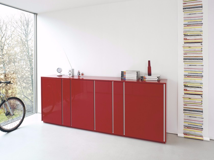 Lacquered sideboard STRIPES | Sideboard - Schönbuch