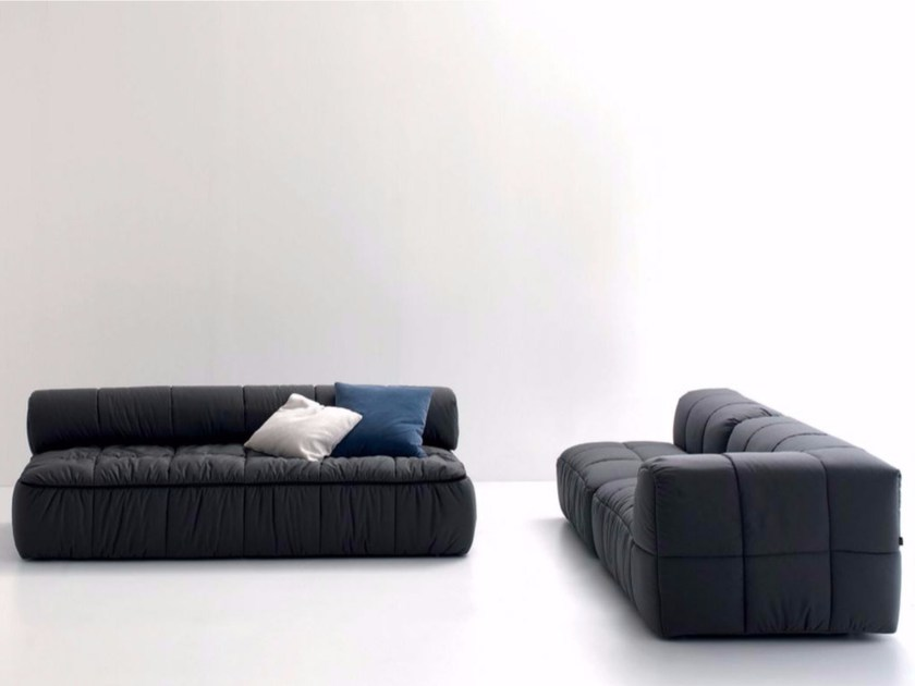Upholstered fabric sofa bed STRIPS | Sofa bed - arflex