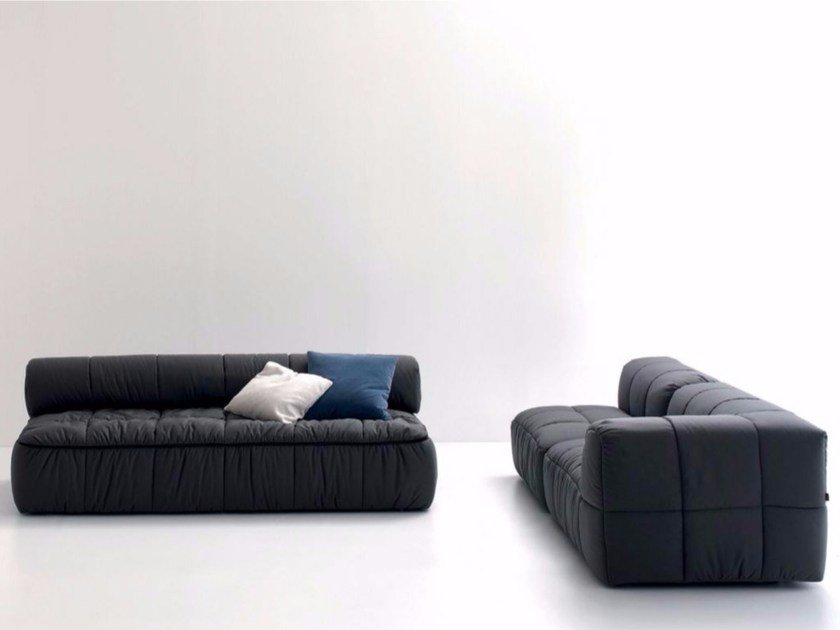 Upholstered fabric sofa bed STRIPS | Sofa bed by arflex