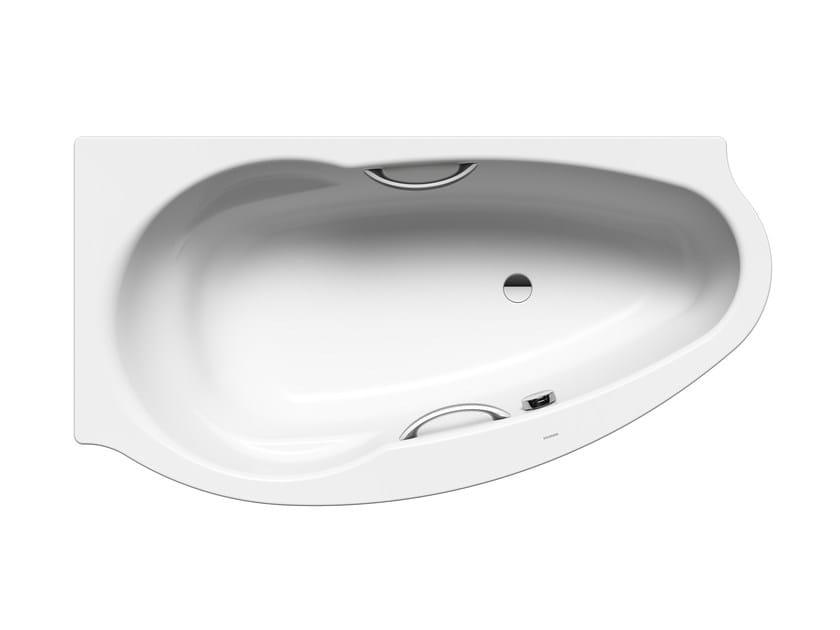 Vasca da bagno angolare in acciaio da incasso studio star destra kaldewei italia - Vasche da bagno kaldewei ...