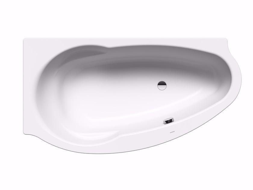 Vasca da bagno in acciaio da incasso studio destra kaldewei italia - Vasca da bagno in acciaio ...