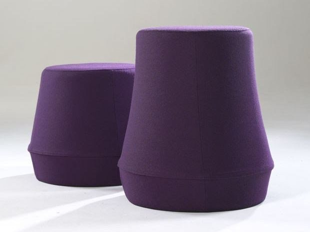 Fabric pouf STUMP | Fabric pouf by Derlot Editions