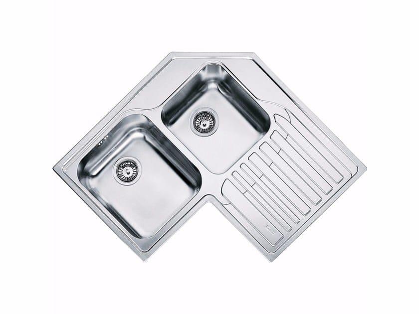 Lavello a 2 vasche da incasso in acciaio inox con sgocciolatoio STX 621-E by FRANKE