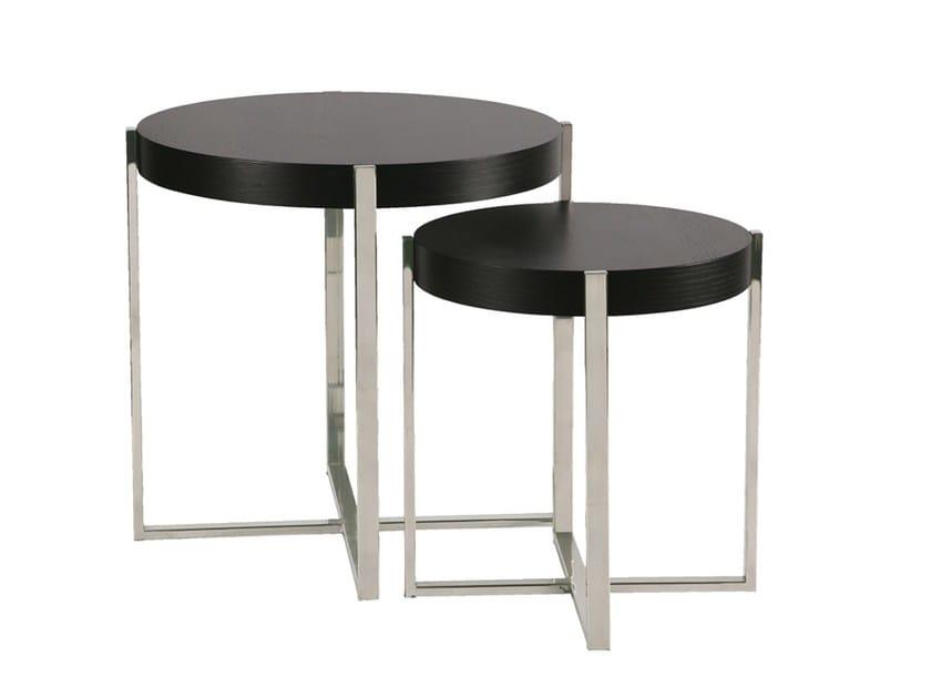 Round side table SUDOESTE | Side table - Branco sobre Branco