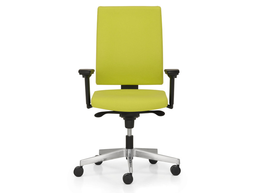Height-adjustable task chair with 5-Spoke base with armrests SUGAR - Quinti Sedute