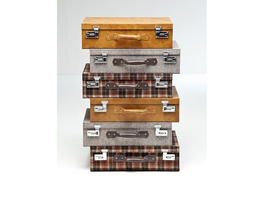 Free standing MDF chest of drawers SUITCASE HIGHLANDS - KARE-DESIGN