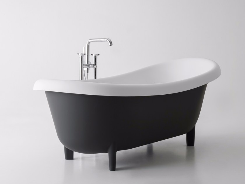 Freestanding oval bathtub on legs SUITE - Antonio Lupi Design®