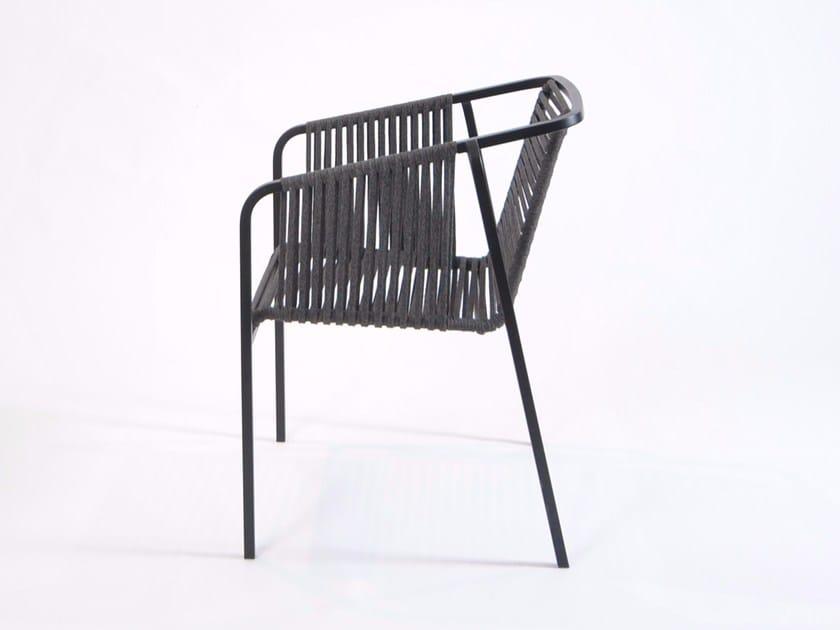 Fabric garden chair with armrests SUITE | Chair - FISCHER MÖBEL