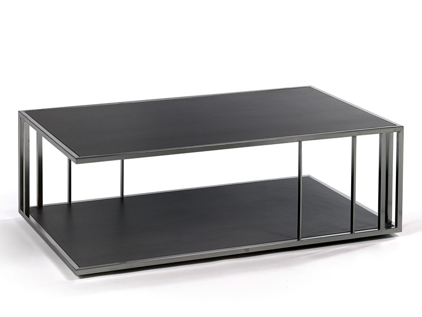 Low rectangular coffee table with integrated magazine rack SUITE | Rectangular coffee table - FISCHER MÖBEL