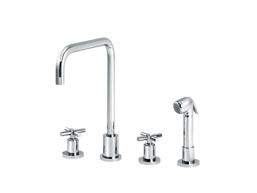 Countertop kitchen mixer tap with spray SULLY | Countertop kitchen mixer tap - rvb
