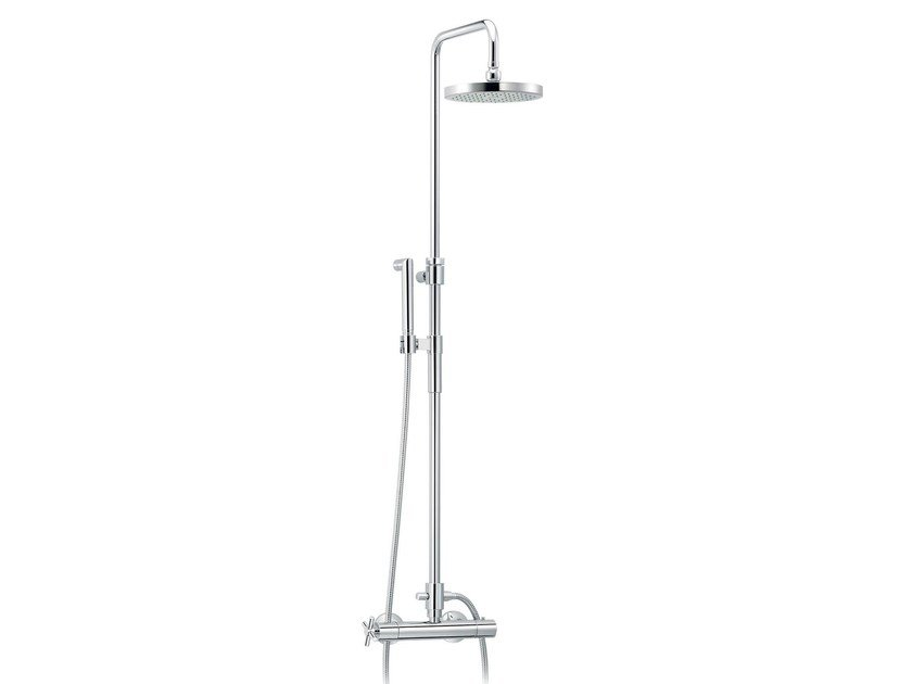 Wall-mounted thermostatic shower panel with hand shower SULLY | Wall-mounted shower panel - rvb