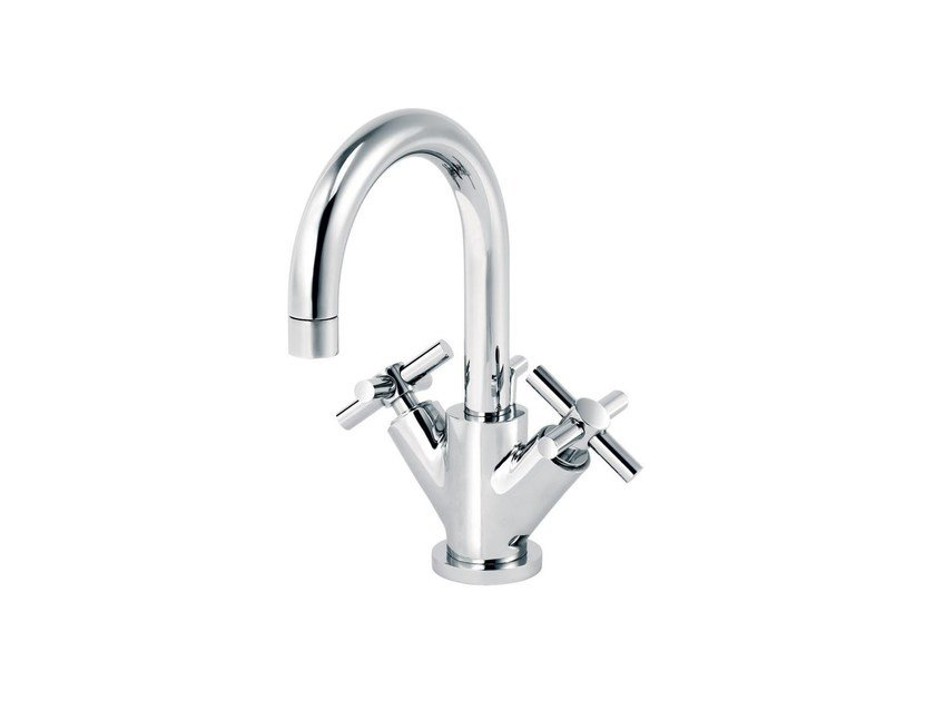 Countertop 1 hole washbasin mixer with automatic pop-up waste SULLY | Washbasin mixer with automatic pop-up waste - rvb