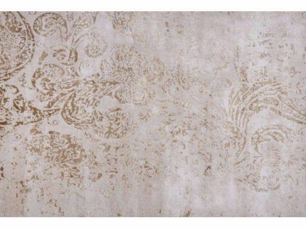 Patterned handmade rectangular rug SUMATRA PLATINE - EDITION BOUGAINVILLE