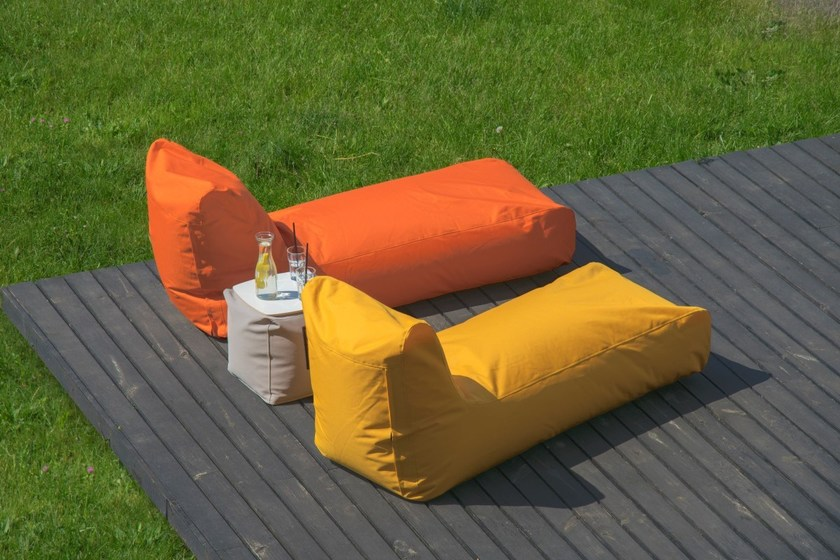 Imitation leather garden daybed SUNBED OUTSIDE by Pusku pusku