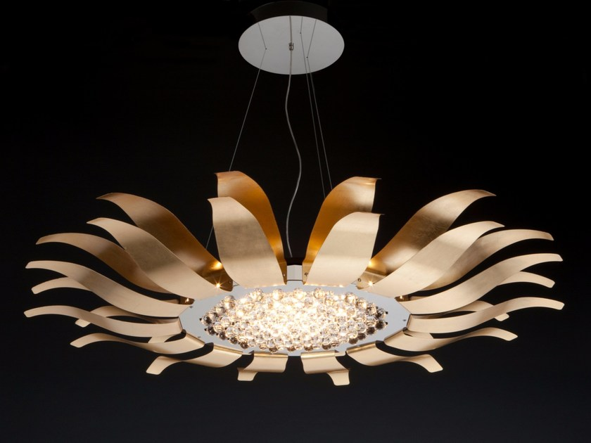 Stainless steel pendant lamp SUNFLOWER by Quasar