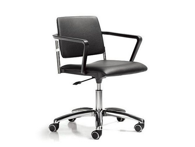 Task chair with 5-Spoke base with casters SUNNY | Task chair by D.M.