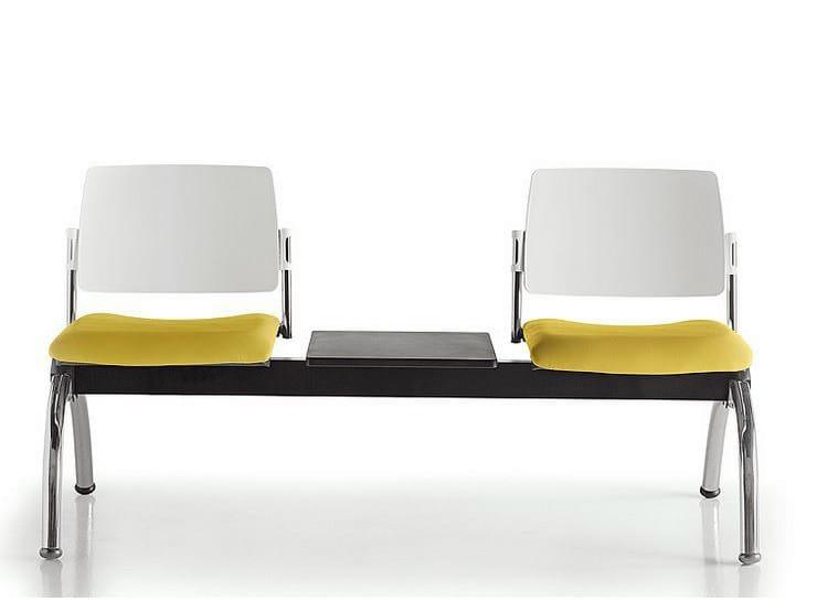 Freestanding polypropylene beam seating SUNNY | Beam seating - D.M.