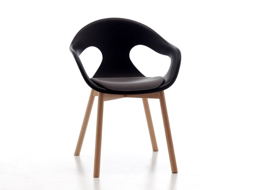 Wood abd plastic armchair for contract SUNNY WOOD PLASTIC | Guest chair - AREA DECLIC
