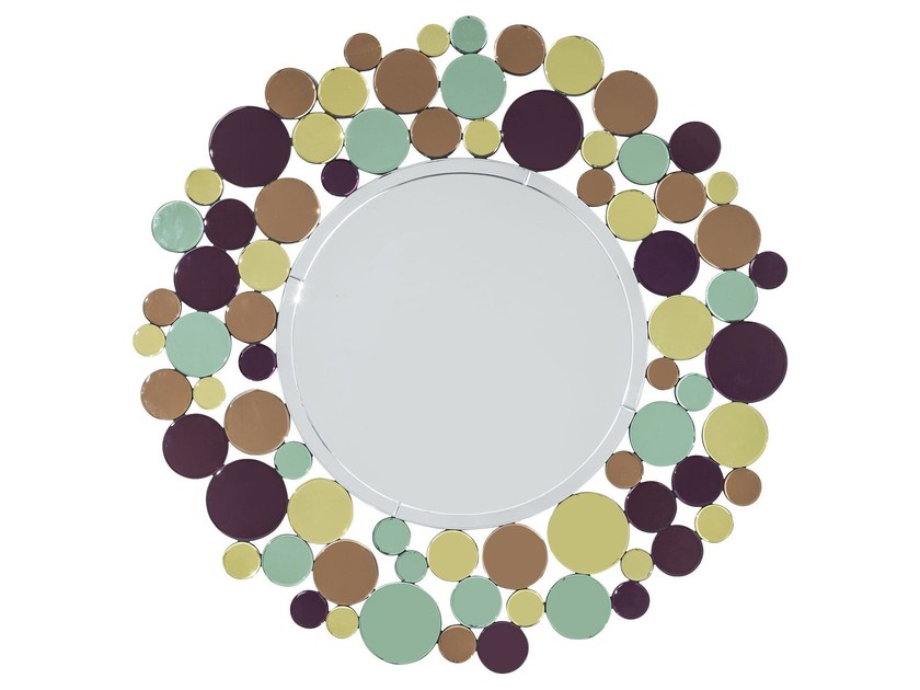 Round wall-mounted framed mirror SUNRISE - KARE-DESIGN