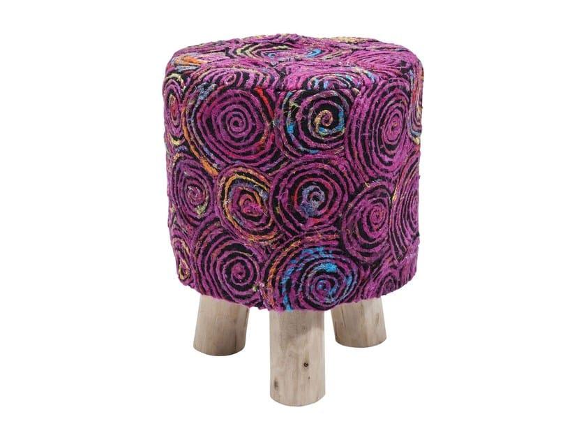 Low fabric stool SUNSET PINK | Low stool - KARE-DESIGN