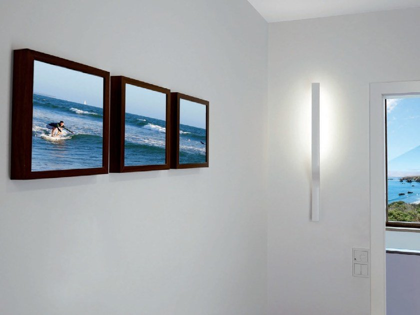 LED powder coated aluminium wall lamp SURFIN' | Wall lamp - millelumen