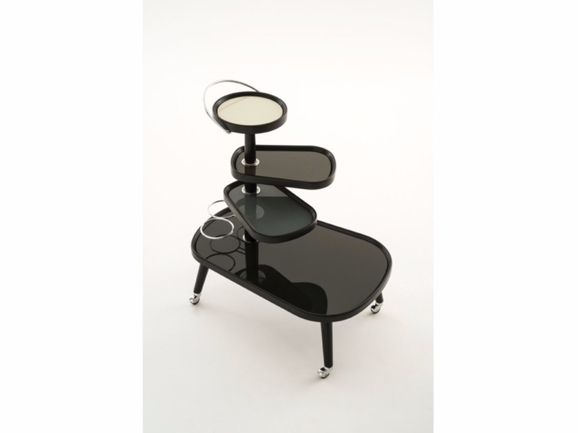 Glass trolley SUSHI KART ALL GREYS - Colé Italian Design Label