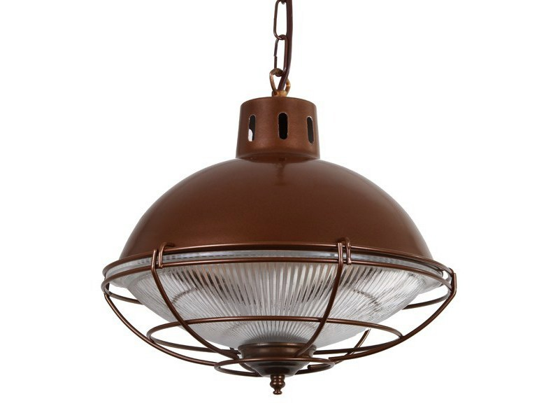 Direct light pendant lamp SUSSEX CAGE LAMP FACTORY LIGHT - Mullan Lighting