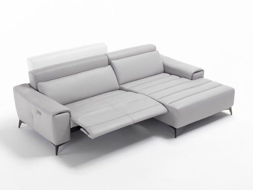 Convertible leather sofa SUZETTE XL - Egoitaliano