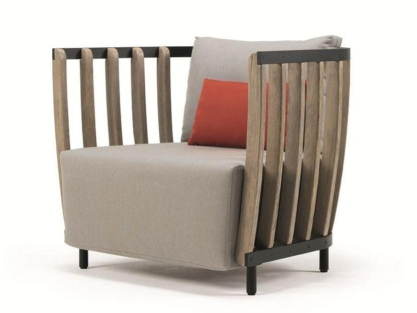 Teak garden armchair SWING | Garden armchair by Ethimo