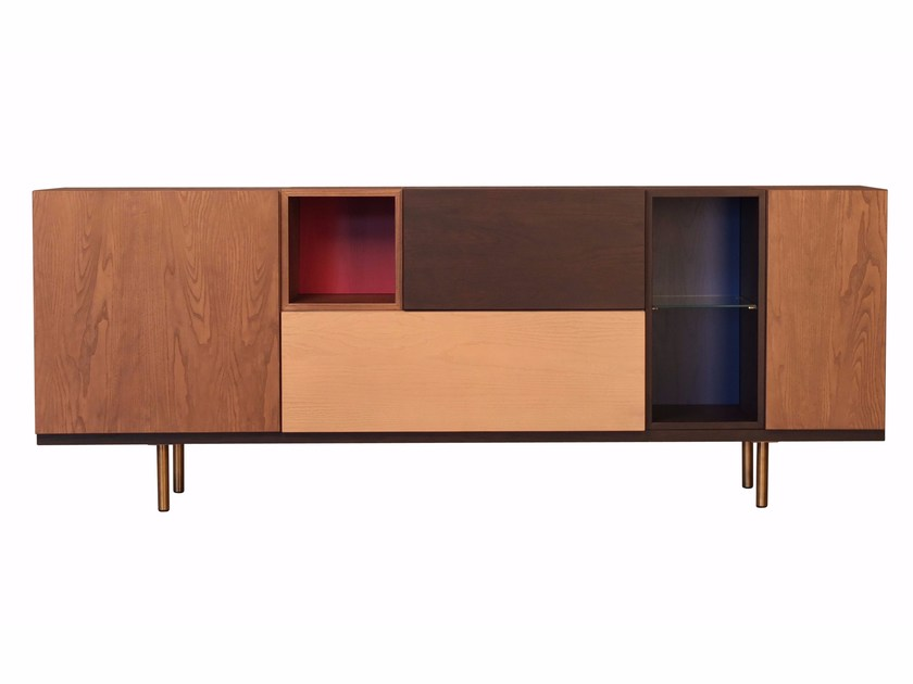 Modular wooden sideboard SWING | Sideboard by Morelato