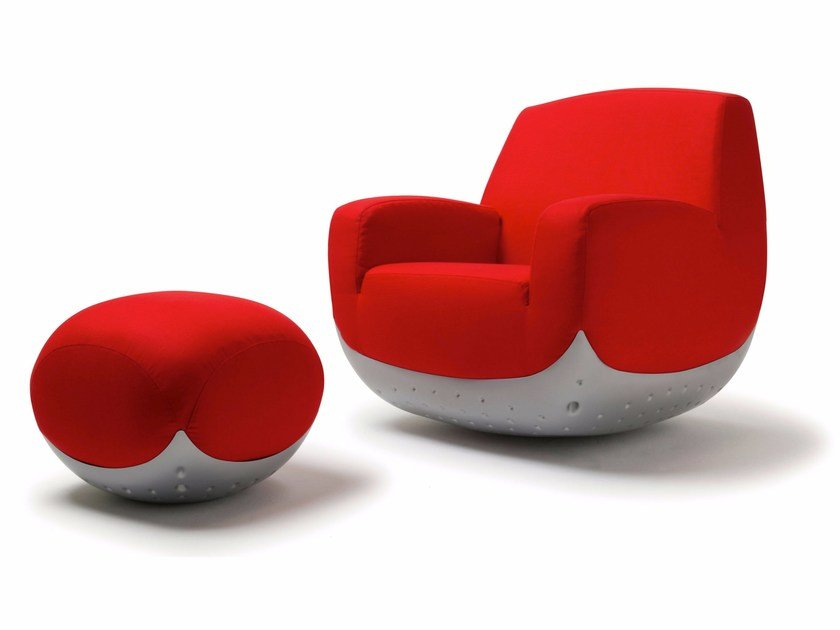 Fabric easy chair with removable cover SWING - Paolo Castelli