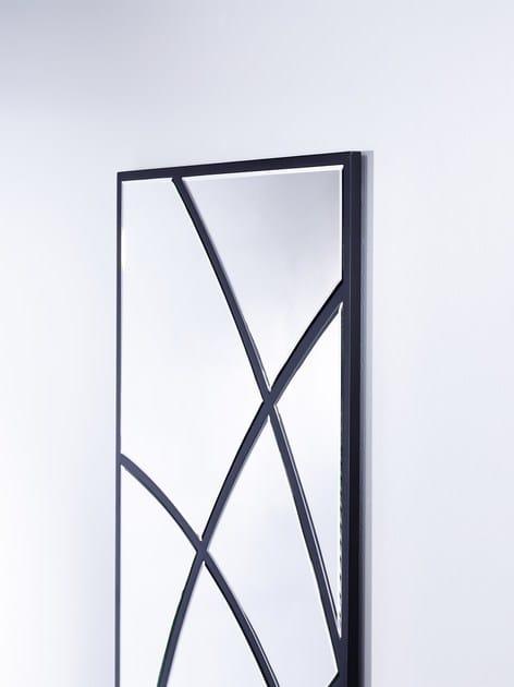 Rectangular wall-mounted framed mirror SWING - DEKNUDT MIRRORS