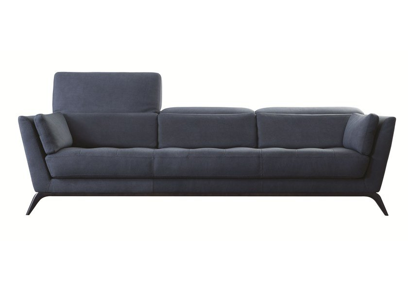Leather sofa with headrest SYLLABE - ROCHE BOBOIS