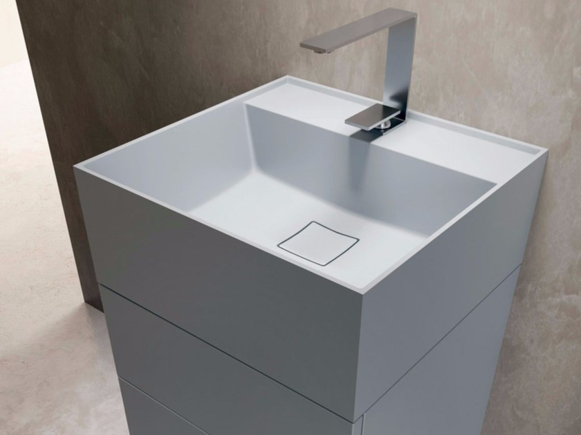 Square Tekhnos washbasin SYN | Square washbasin - LASA IDEA