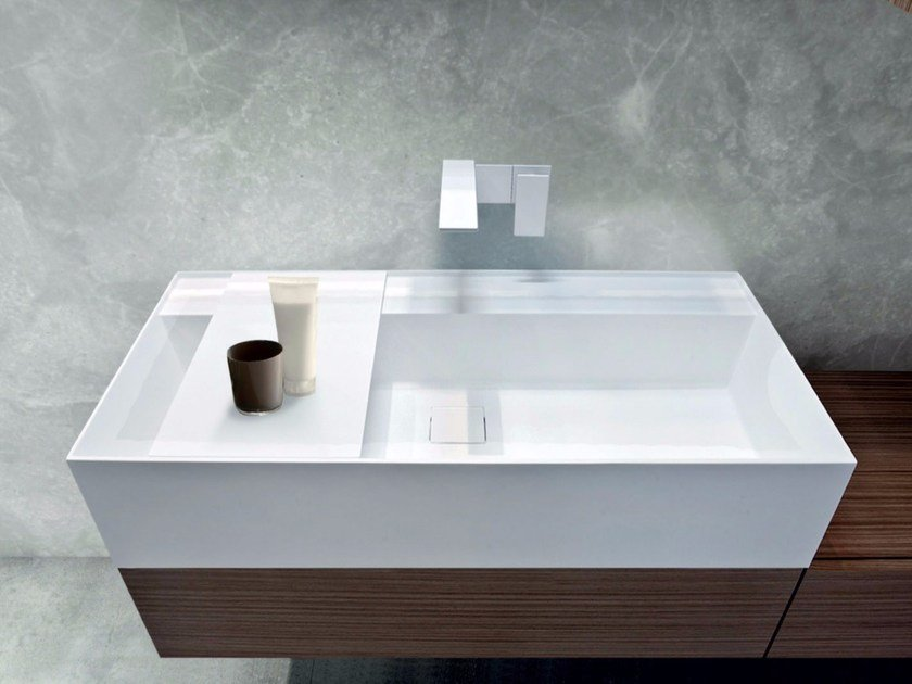 Countertop rectangular Tecnoril® washbasin SYN | Tecnoril® washbasin - LASA IDEA