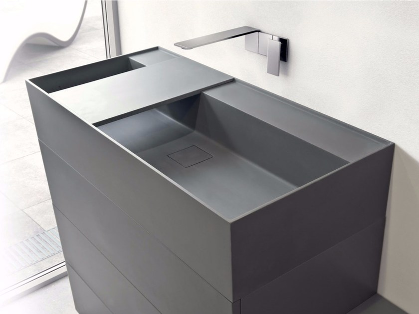 Rectangular Tekhnos washbasin SYN | Tekhnos washbasin - LASA IDEA