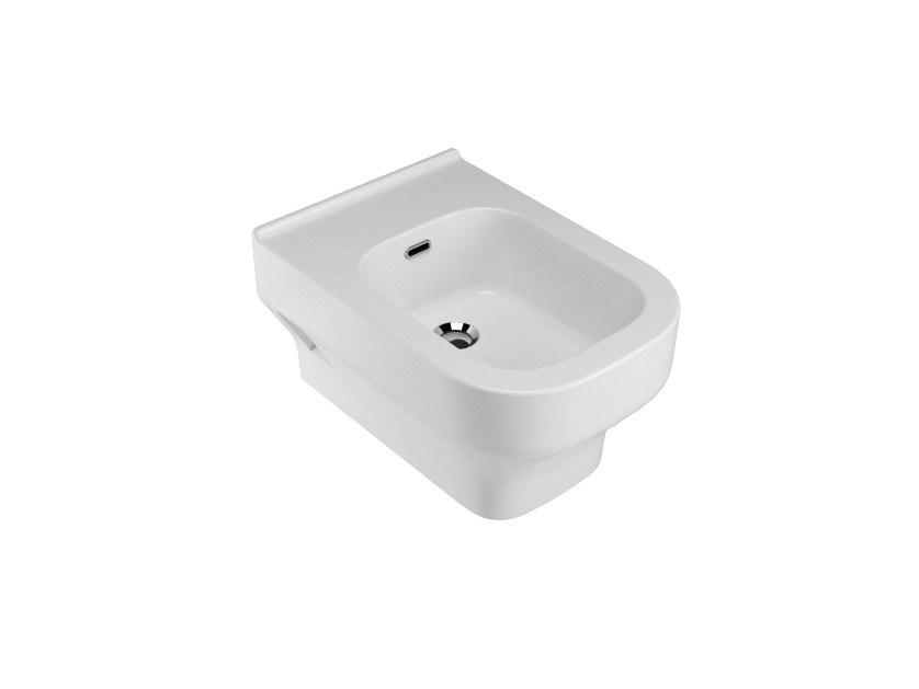 Wall-hung ceramic bidet with overflow SYNTHESIS | Wall-hung bidet - Olympia Ceramica