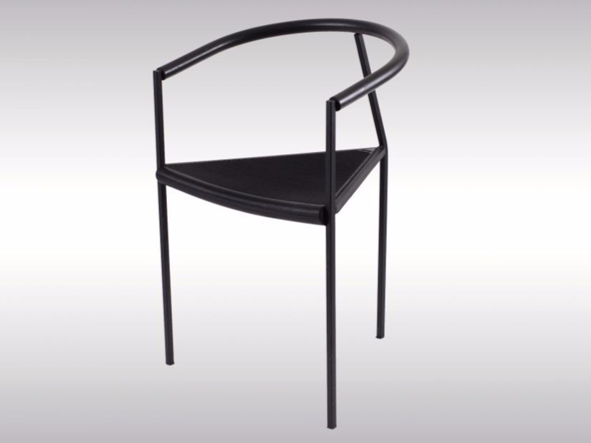 Powder coated steel chair Chair by Woka Lamps Vienna