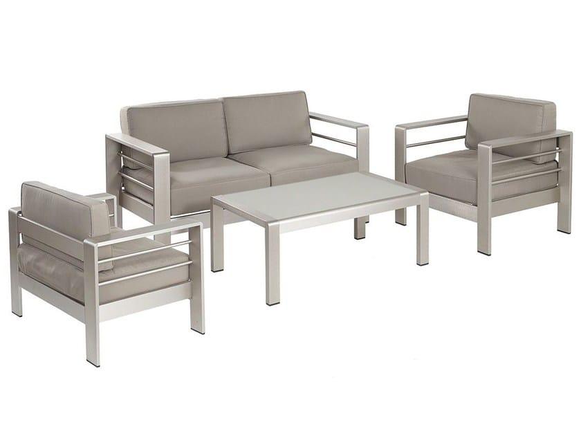 lounge set da giardino in alluminio cassia mediterraneo by gpb. Black Bedroom Furniture Sets. Home Design Ideas