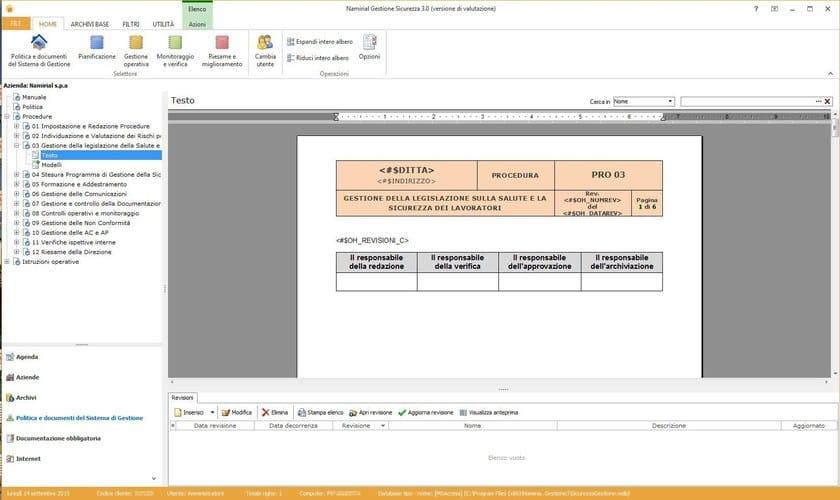 Sicurezza aziendale sicurezza gestione edilizia namirial for Miglior software di progettazione edilizia