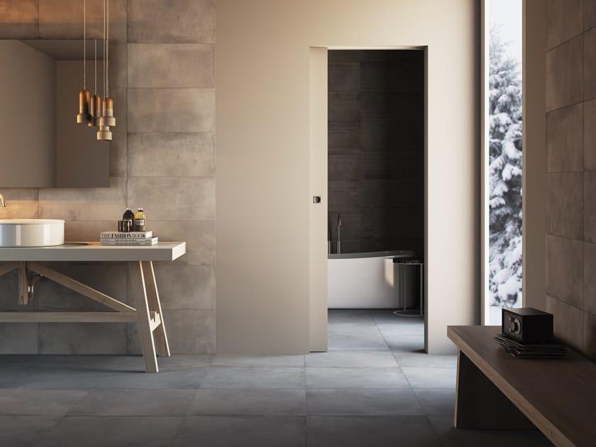 Porta a filo muro scorrevole senza telaio porta scorrevole pannellofilomuro - Telaio porta scorrevole ...