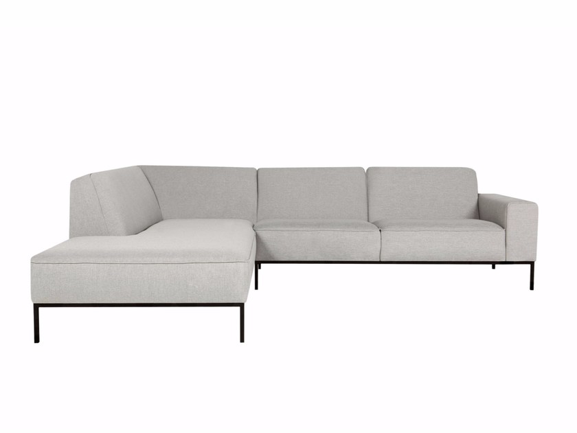 Sectional 4 seater fabric sofa with chaise longue VILLE | Sofa with chaise longue - SITS