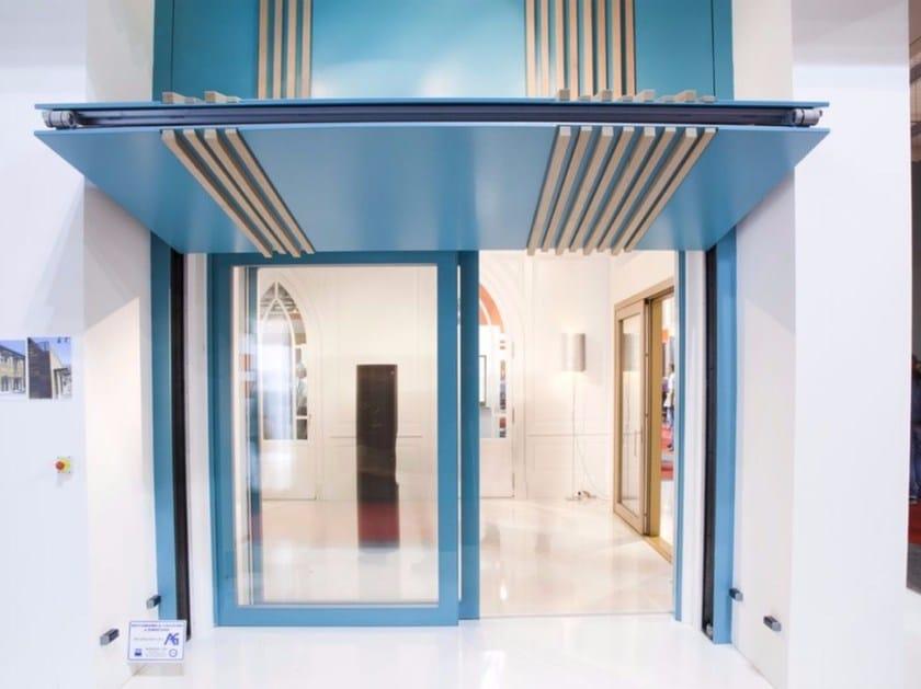 Sistema frangisole per facciata in legno frangisole con apertura a ginocchio carminati serramenti - Finestre apertura alla francese ...