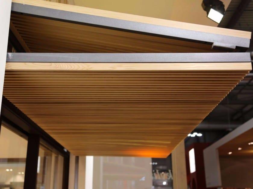 Sistema frangisole per facciata in legno frangisole con apertura a ginocchio carminati serramenti - Frangisole esterni per finestre ...