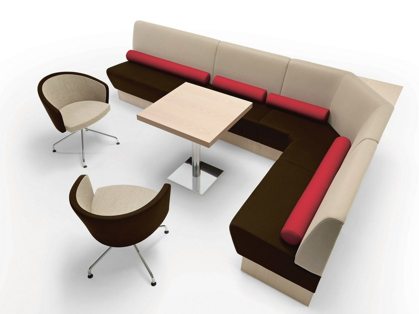 Sectional fabric sofa Space by Metalmobil