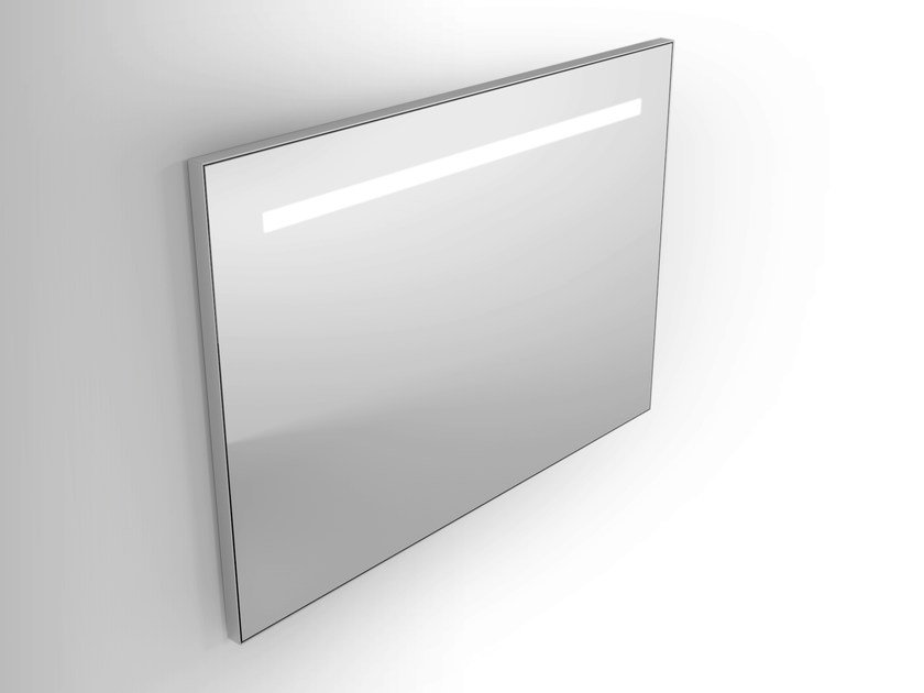 Wall-mounted mirror with integrated lighting Framed mirror - Alna