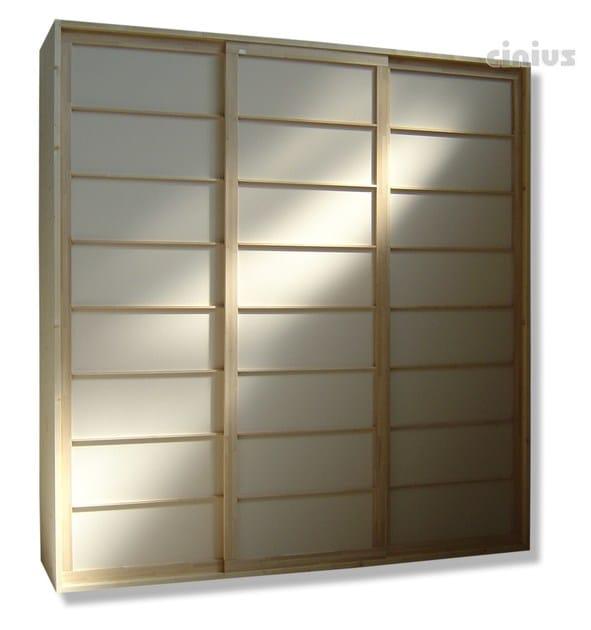 Spruce wardrobe with sliding doors Spruce wardrobe - Cinius